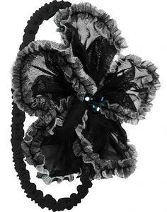 Hugs and Hissyfits, Inc. - Isobella and Chloe Peyton Black ELASTIC Headband, $26.00 (http://www.hugsandhissyfits.com/isobella-and-chloe-peyton-black-elastic-headband/)