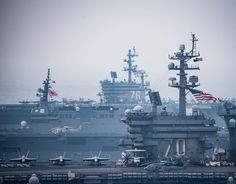 "1,429 Likes, 9 Comments - U.S. Navy Aircraft Carriers (@usnavyaircraftcarriers) on Instagram: ""USS Carl Vinson (CVN 70) and USS Ronald Reagan (CVN 76) Carrier Strike Groups operate with Japan…"""