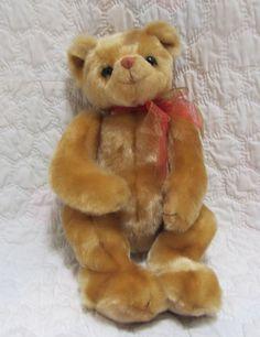 "1999 Retired Ty 18"" Stuffed Animal Plush Teddy Bear Euc Gold Brown Toy Large #Ty"
