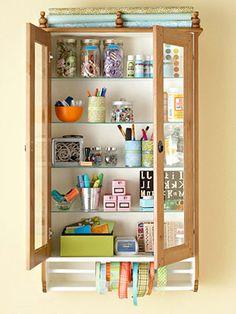 Cute craft storage. #organize