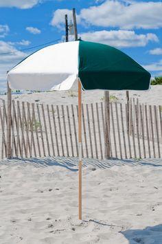 6.5' Diameter Steel Beach Umbrella with Sunbrella(r) Cover   Wide selection of colors