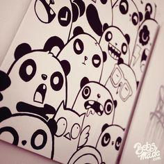 panda, draw, diy