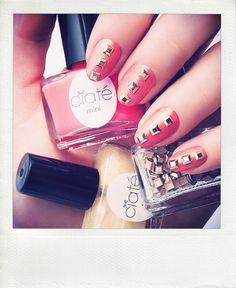 Nail inspo: Stylish Studs Mani #Ciaté #Sephora #nails #sephoranailspotting