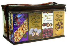 20 Pack Assortment of 5 each - Lightly Salted Macadamia Nuts, Mini Mele Mac's, Chocolate Macadamia Nuts, Chocolate Coffee Beans - what a nice gift.