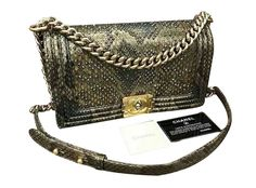 21b9e3dfa57f31 Sacs à main Chanel Boy phyton medium Joli Closet, Shoulder Bag, Purses,  Handbags