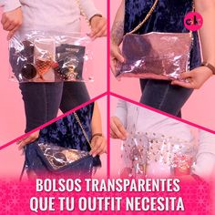 Poly Four Zipper Fanny Pack Material - polyester w/heavy vinyl backing Size - 14 W x 7 H x 3 D in. Diy Home Crafts, Diy Arts And Crafts, Fashion Sewing, Diy Fashion, Diy Bags Purses, Transparent Bag, Diy Clothing, Diy Tutorial, Diy Gifts