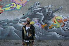 Dez artistas de rua de norte a sul do país estão a pintar um mural na Rua da Lionesa, em Leça do Balio