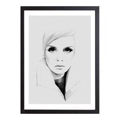 Twiggy in grey Art Print by magdalenatyboni Grey Art, Twiggy, Art Pages, Illustration Art, My Arts, Art Prints, Poster, Instagram, Art Life