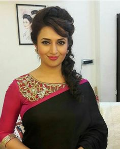 These beautiful Ishita hairstyles will give some great ideas to look like a superstar actress. Check out Divyanka Tripathi's hairstyles as Ishita now! Indian Celebrities, Bollywood Celebrities, Bollywood Fashion, Bollywood Hair, Saree Fashion, Bollywood Girls, Indian Dresses, Indian Outfits, Divyanka Tripathi Saree