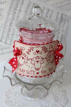 Christmas jar and label