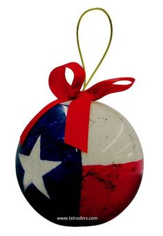 Lovely Texas Flag Decopauge Ornament - can be used at Christmas time or as a year 'round ornament. Christmas Love, Christmas Angels, Christmas Tree Ornaments, Christmas Holidays, Christmas Crafts, Christmas Decorations, Christmas Ideas, Country Christmas, Christmas Snowman