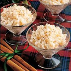 Christmas Rice Pudding  I'm part Norwegian and I remember eating this warm, sometimes added raisins.  I believe my mom used heavy cream instead of milk. Loved it for breakfast.  We knew it as Rice Grut.