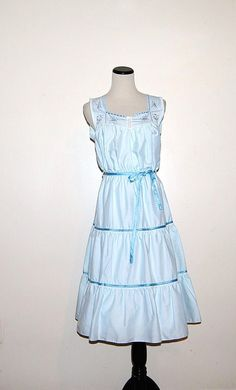 Vintage Blue Sundress by CheekyVintageCloset on Etsy, $32.00