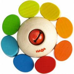 Haba 3251 - Gryzak Karuzela z Ekologicznego Drewna bukowego dla Niemowlaka z malutkim dzwoneczkiem