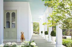 Hausfassade, Haint Blau Veranda Decke, Deckenfarbe, Außenfarben, Malfarben,  Outdoor Plätze, Leben Unter Freiem Himmel, Blaue Decken, Blautöne, Ziegel,  ...
