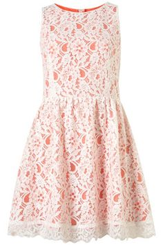 love the lace/coral dress