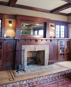 Fantastic remodel by Craftsman design and renovation. craftsman bungalow fireplace by Fantastic remodel by Craftsman design and renovation. craftsman bungalow fireplace by Craftsman Interior, Craftsman Style Homes, Craftsman Bungalows, Craftsman Remodel, Craftsman Farmhouse, Craftsman Trim, Interior Trim, Style At Home, Family Room Fireplace