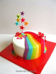 Rainbow cakes, and make the cake a layered cake with different colours in each layer and butterflies instead of stars