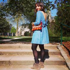 #look #fashion #streetstyle #denim #clutch