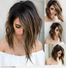 63 stunning examples of brown ombre hair - Hairstyles Trends Ombre Hair Long Bob, Brown Ombre Hair, Brown Blonde Hair, Brunette Hair, Dark Hair, Brunette Color, Long Hair, Hair Color And Cut, Cut My Hair
