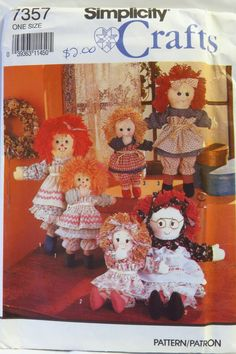 Simplicity 7357 Rag Doll and Clothes in Two Sizes