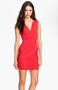 Sexy Red Jersey Little Dress