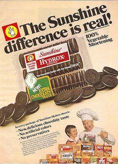 1978 Sunshine Brand Hydrox Cookies. Image from Gregg Koenig's Flickr site