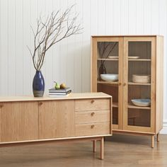 Larsson Buffet & Cabinet (Freedom) Oak Dining Room, Dining Room Buffet, Freedom Furniture, New Furniture, Office Furniture, Wall Bookshelves, Buffet Cabinet, Cool Beds, Amazing Beds
