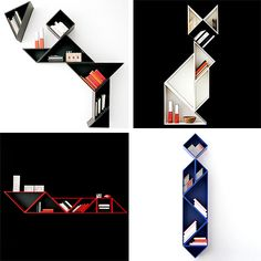 funky bookcase shapes