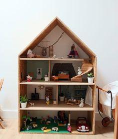 Maison de poupées Poubelle de cuisine rouge /& blanc 1//12th