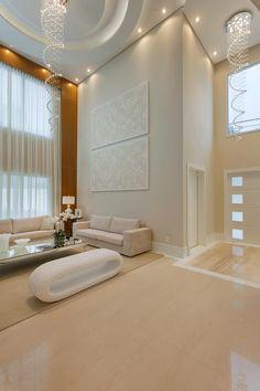 Casa Indaiatuba: Salas de estar modernas por Designer de Interiores e Paisagista Iara Kílaris