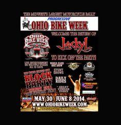 Ohio Bike Week --- Only 7 Weeks Away  #ohiobikeweek #bikeweek