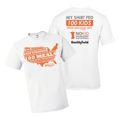 End childhood hunger in America by purchasing only ONE t-shirt at www.gofundme.com/dineout