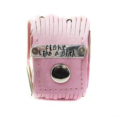 Fight Like a Girl  Breast Cancer Awarness Bracelet