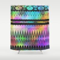 Watercolor Abstract Landscape Shower Curtain