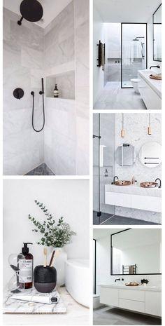 Modern Bathroom Decor, White Bathroom, Bathroom Interior, Small Bathroom, Master Bathroom, Bad Inspiration, Bathroom Inspiration, Bathroom Inspo, Bathroom Ideas