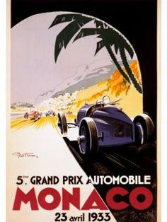 Monaco Grand Prix poster, 1933