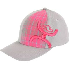 HOOey Grey/Pink Plaid   I want this HAT!