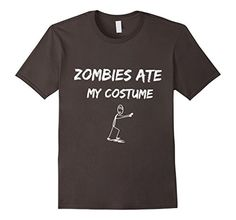 Funny Halloween T Shirt, Zombies Ate My Costume, Graphic Tee - Male Small - Asphalt Funny TShirts http://www.amazon.com/dp/B016NMNJBK/ref=cm_sw_r_pi_dp_uOWhwb18X8JNK