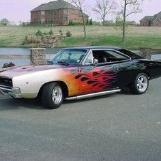 Dodge Charger Flames