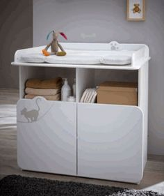 Babyzimmer Amelie 3tlg. #Wickeltisch #weiß #Möbel #Babyzimmer