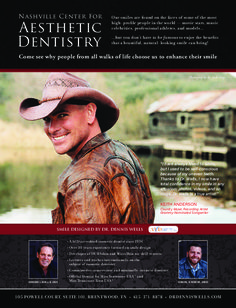 Dr. Wells smile design for country music artist Keith Anderson #Nashville #DrDennisWells