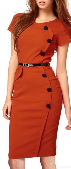 Vintage Cap Sleeves Bodycon Dress