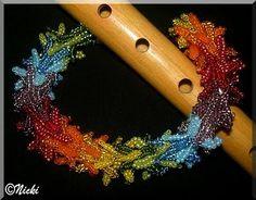 Papagena's Federkleid I Immer Wieder Perlen Beading, Jewelry, Design, Lilac, Feather Dress, Armband, Jewlery, Beads, Jewels