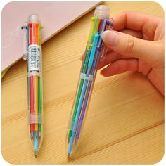 1Pc Novelty 6 Color Ballpoint Pen Ballpen For Kids Child Student Office Supplies #>=#>=#>=#>=#> Click on the pin to check out discount price, color, size, shipping, etc. Save and like it!