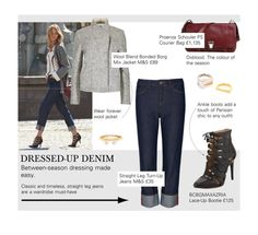 """""""Fall 2015: Dressed-Up Denim"""" by tracey-mason ❤ liked on Polyvore featuring BCBGMAXAZRIA, Proenza Schouler, Chloé and Maison Margiela"""