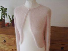 Brautstolen & -boleros - Angora Brautbolero Bolero rosa, weiß Angorajacke - ein Designerstück von laurentii bei DaWanda