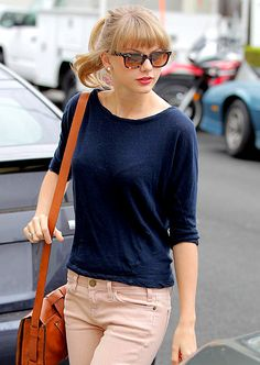 Taylor, you are so cute in your pink cords and navy top.  WHY WERE YOU IN MY TOWN AND I DID NOT SEE YOU?!  Darn!