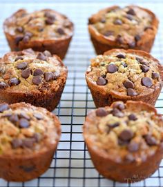 When life gives you ripe bananas - make muffins! These Jumbo Chocolate Chip Toffee Banana Muffins are incredibly moist and just loaded with flavor! Chocolate and banana go together so well in these delicious muffins!