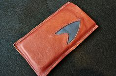Water Hardened Leather Star Trek Insignia Cell by tickletrunk, $20.00